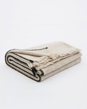 Teixidors Sisteron Throw in Grey-Black folded