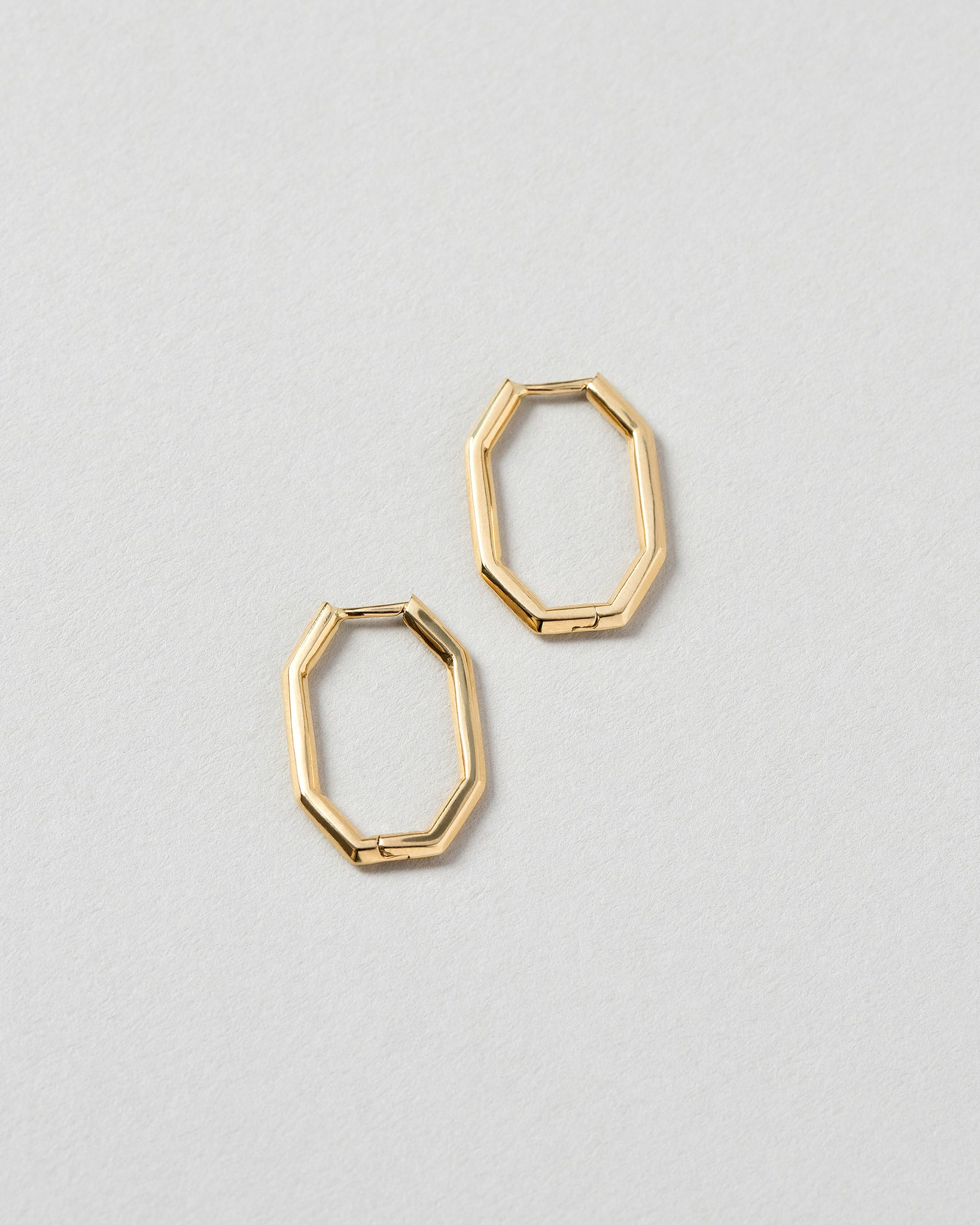 Thin Segmented Hoops Laid Flat