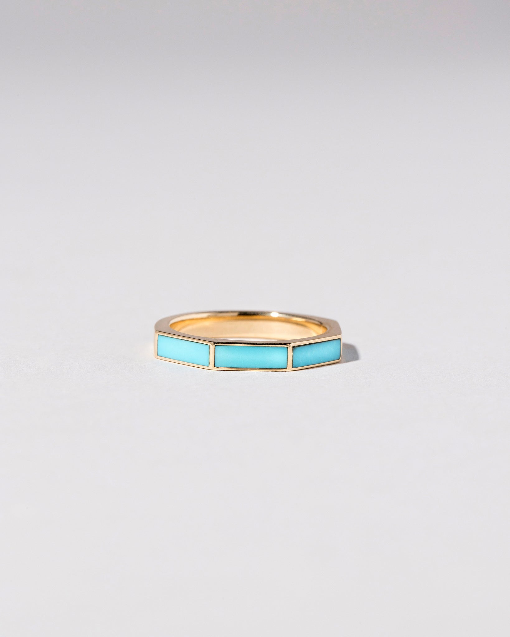 Segmented Inlay Band with Turquoise