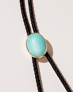 Turquoise Snake Bolo - Final Sale on light color background.