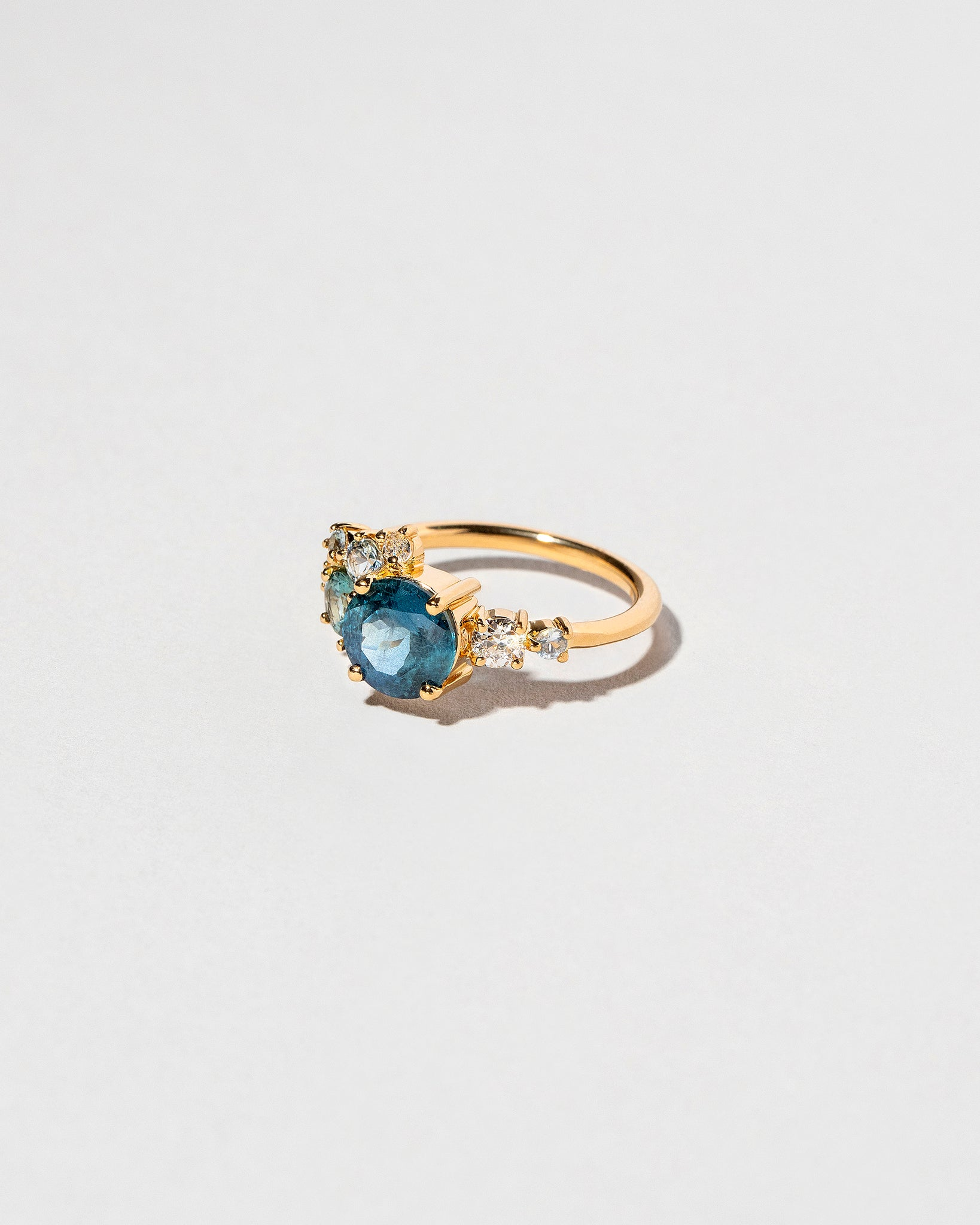 Vega Ring - Malawi Sapphire on light color background
