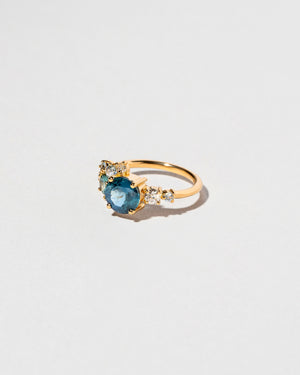 Malawi Sapphire Vega Ring left facing