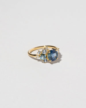 Malawi Sapphire Vega Ring on model