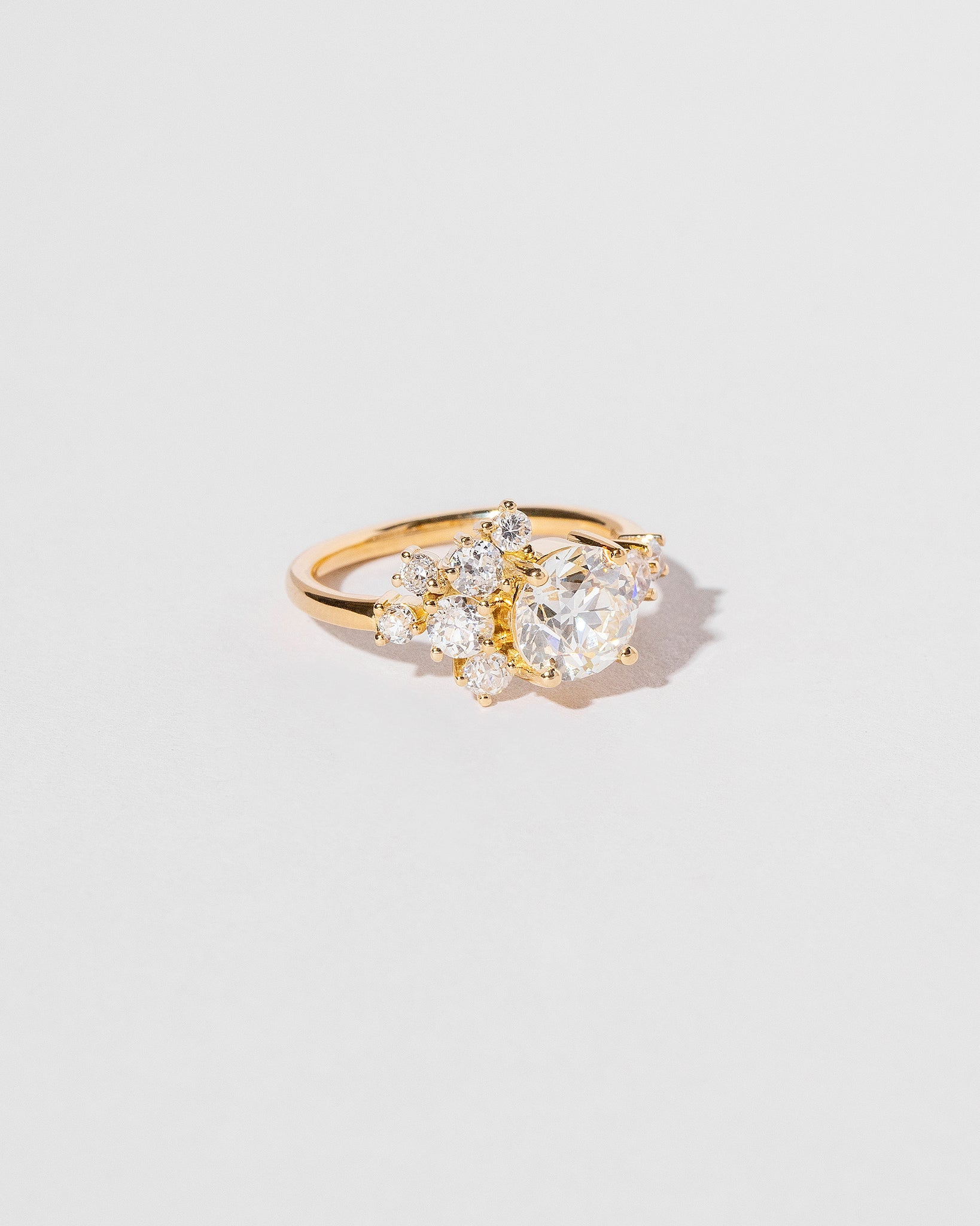 White Diamond Vega Ring left view