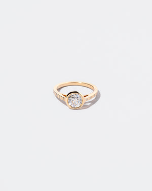 White Diamond Calatrava Ring front facing