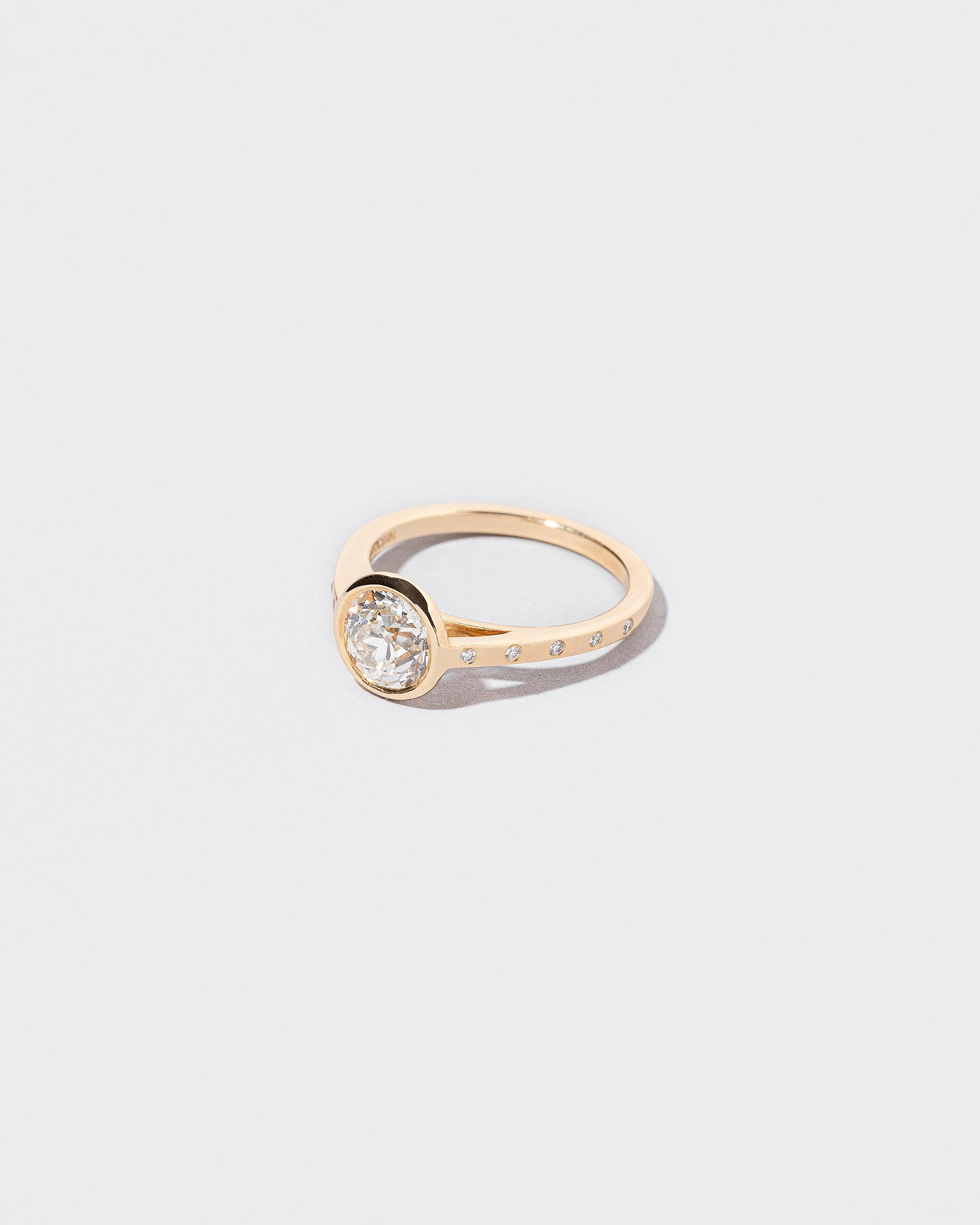 White Diamond Calatrava Ring left facing