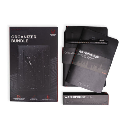 Waterproof Organizer, Pen & Notebook Bundle