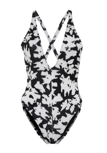 Floral Cross Back Swimsuit