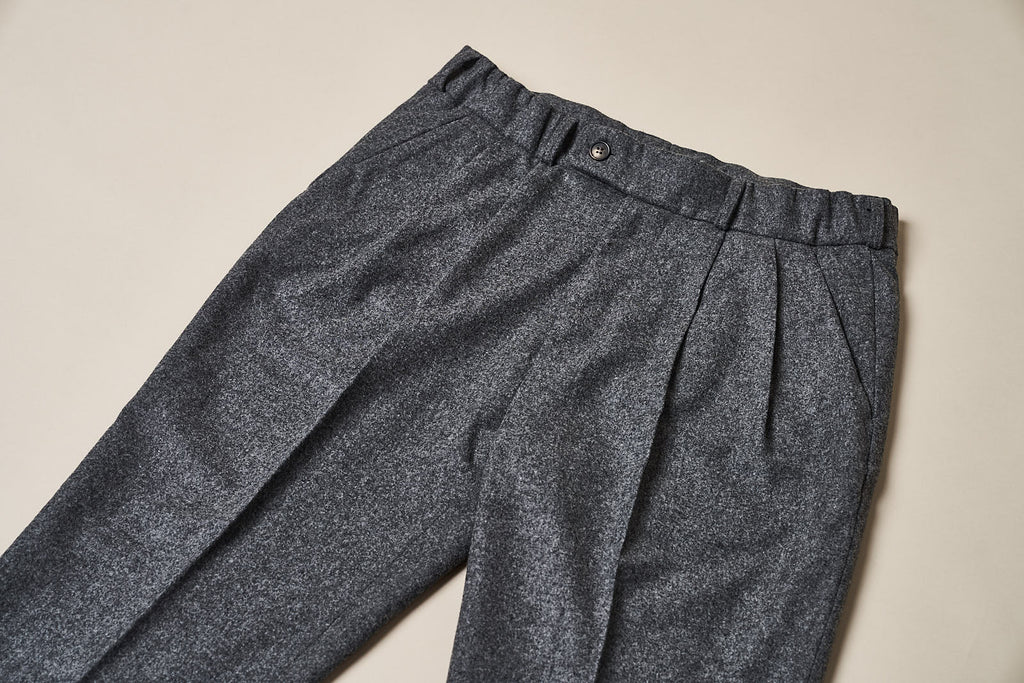 T010 Easy Trousers - Mid-Grey