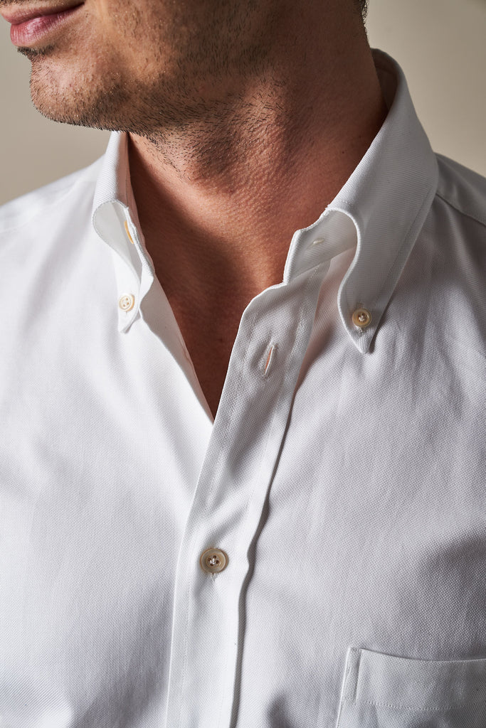 SH01 Oxford Cloth Button Down - White