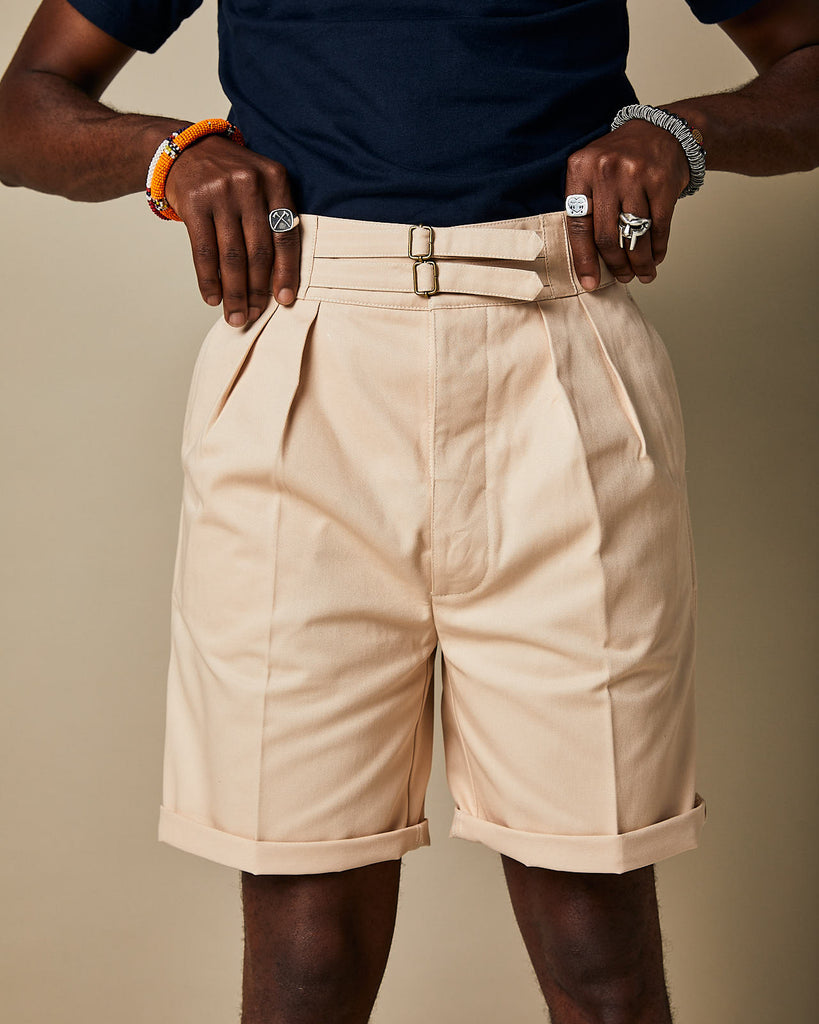 S011 Safari Shorts - Ecru