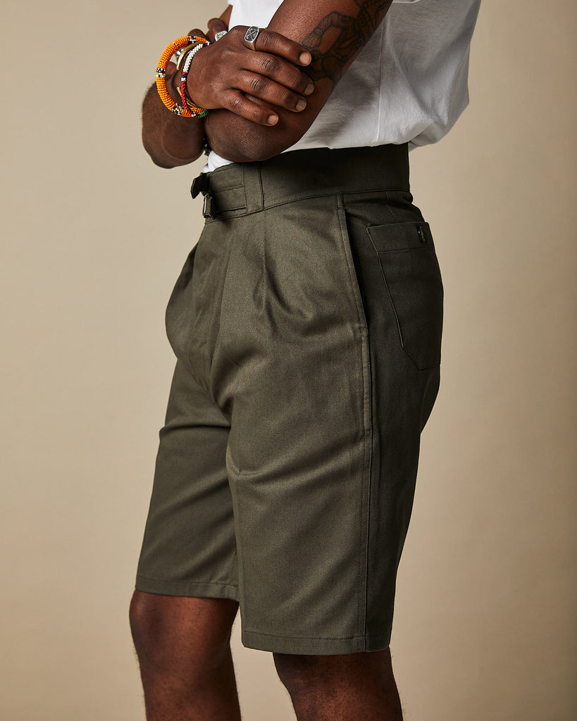 S011 Safari Shorts - Olive