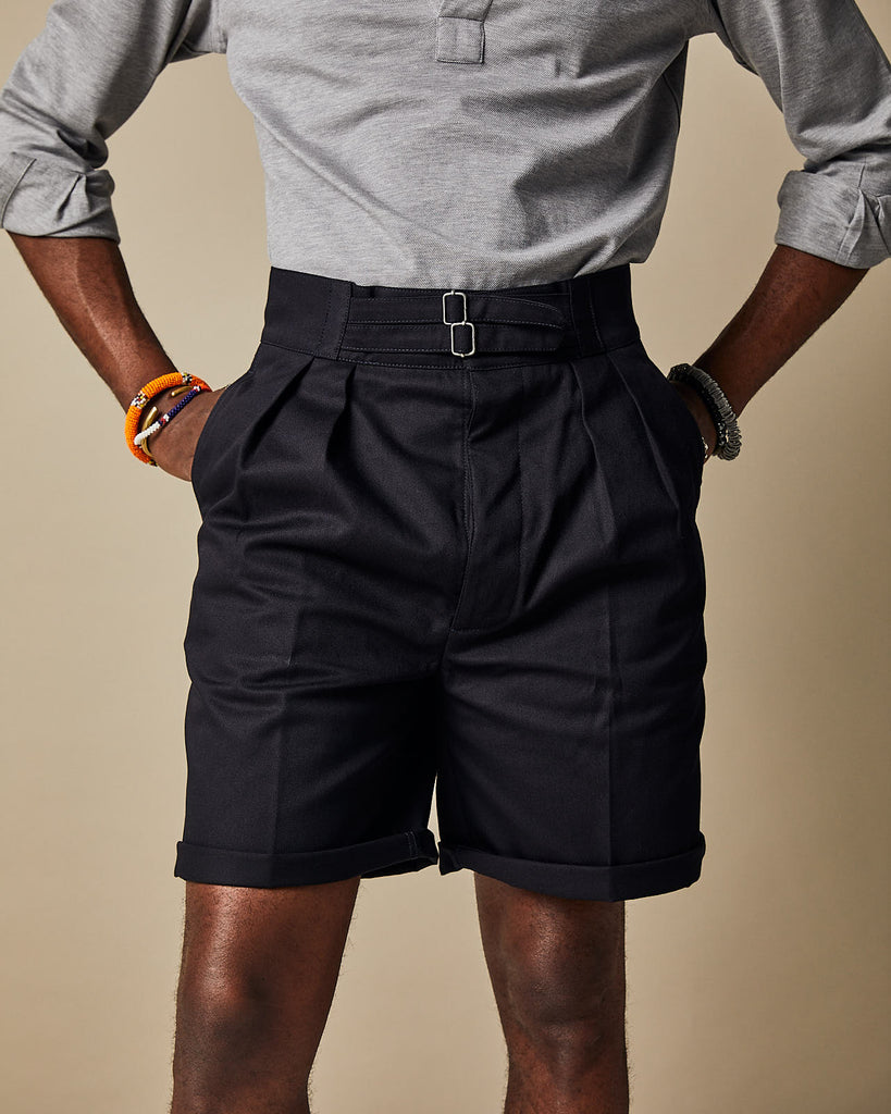 S011 Safari Shorts - Dark Navy