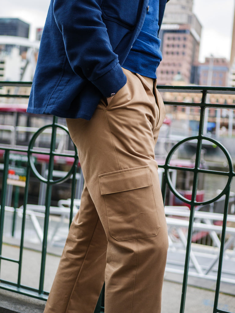 T012 Cargo Trouser - Light Taupe