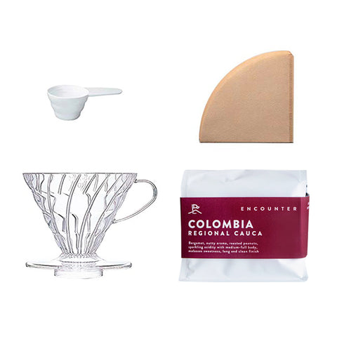 V60 Dripper & Filter Set + Single Origin Coffee