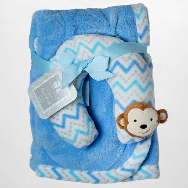 Baby Pillow and Blanket - Blue