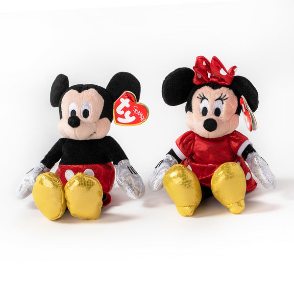 Ty Assorted Beanie Babies Minnie and Micky