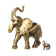 Elephant Grandeur Pill Box with Necklace