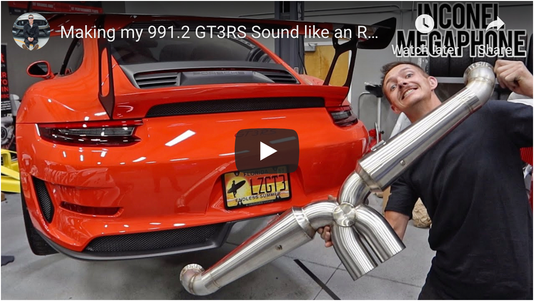 AdamLZ's 991.2 GT3RSR...  Street Headers and Inconel Megaphone Crack Pipe Exhaust