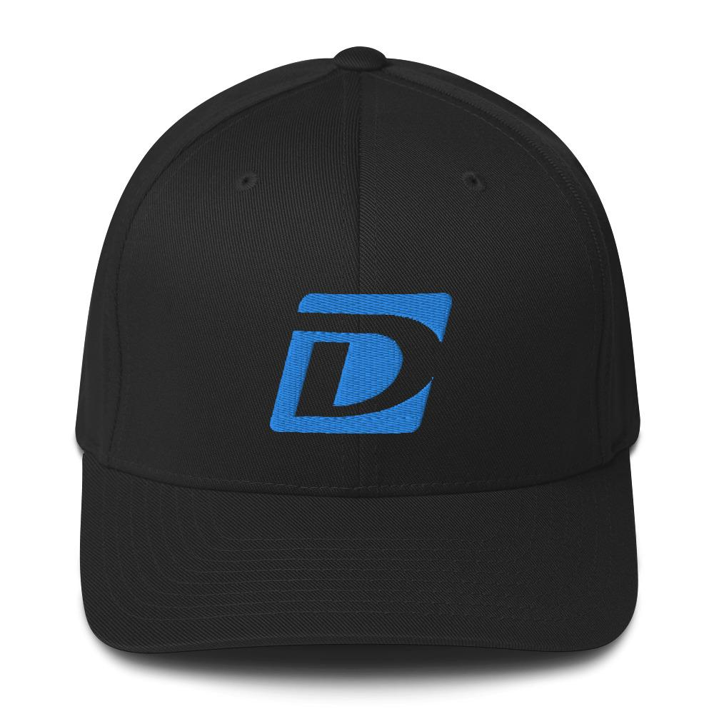 Dundon Miami Blue Flex-fit Twill Cap - Dundon Motorsports