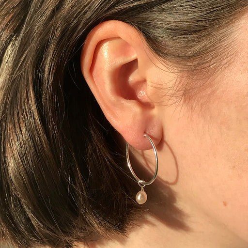 Marina Hoops in Silver