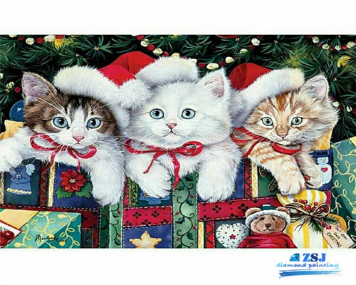 Cats Are Waiting for Gifts