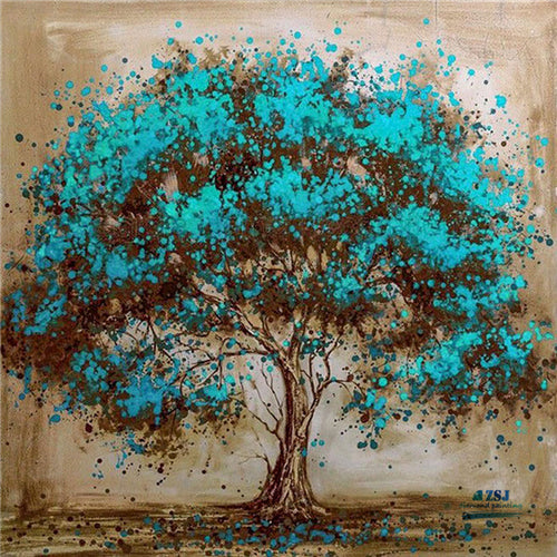 Green Tree Oil Painting