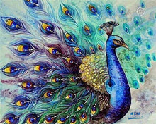 Load image into Gallery viewer, Peacock Oil Painting
