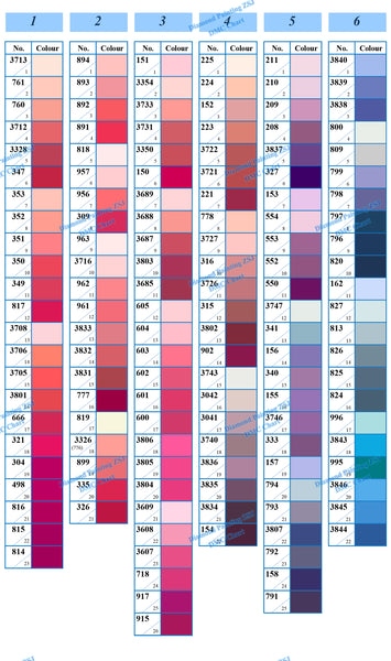 photograph relating to Free Printable Dmc Color Chart referred to as DMC Colour Chart Card DMC colour for diamond portray ZSJ
