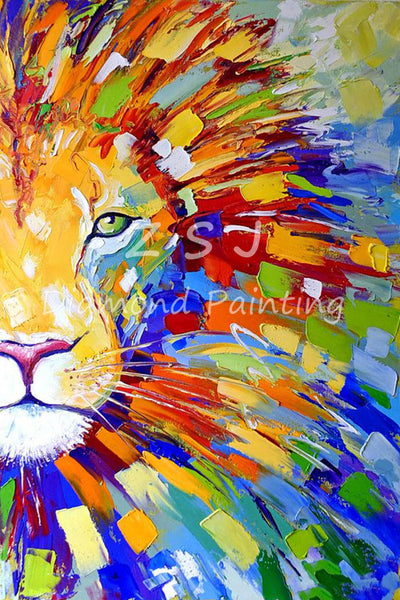 Blooming Colorful Lion