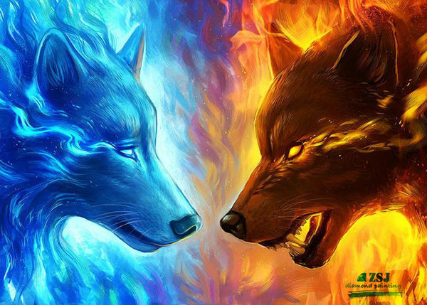 Wolf -Diamond Painting Set