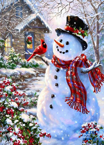 Snowman -Diamond Painting Kit