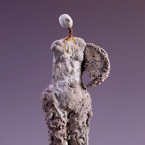 Concrete female figure sculpture no arms