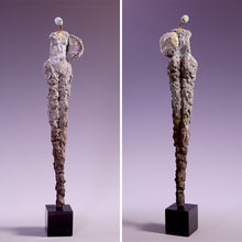 Load image into Gallery viewer, Concrete female figure sculpture with no arms