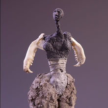 Load image into Gallery viewer, Concrete & mixed media female figure sculpture