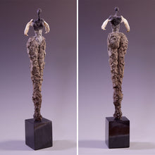 Load image into Gallery viewer, Female figure sculpture, concrete & found objects