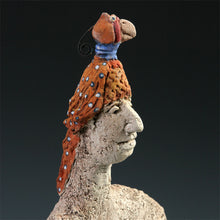 Load image into Gallery viewer, Ornithologist abstract ceramic sculpture