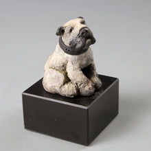 Load image into Gallery viewer, Small ceramic English bulldog sculpture