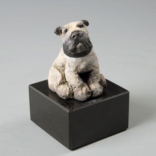 Ceramic English Bulldog sculpture