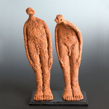 Load image into Gallery viewer, Ceramic sculpture two naked men