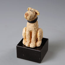 Load image into Gallery viewer, Small ceramic Labradoodle dog sculpture