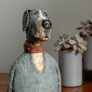Ceramic great dane sculpture