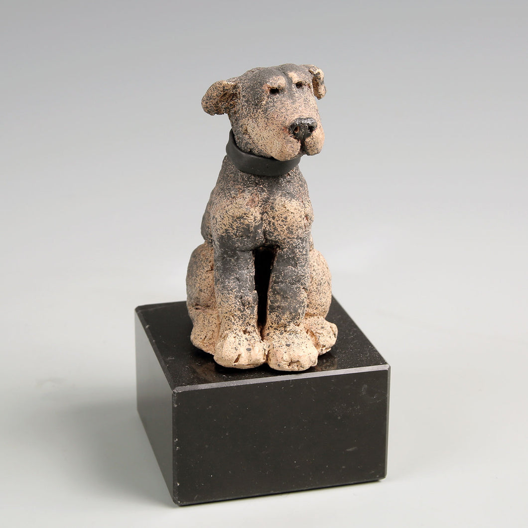 Small ceramic rottweiler sculpture
