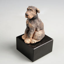 Load image into Gallery viewer, Small ceramic rottweiler sculpture