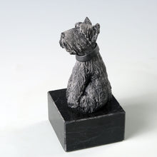 Load image into Gallery viewer, Black ceramic Scottish Terrier dog sculpture