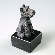 Load image into Gallery viewer, Ceramic black Scottish Terrier dog sculpture