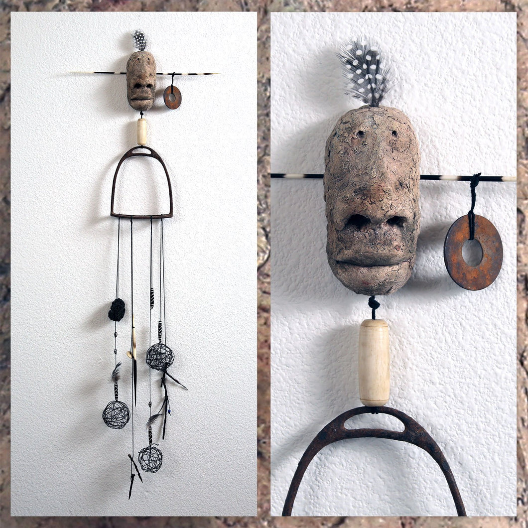 Wall hanging. Ceramic & mixed media