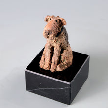 Load image into Gallery viewer, Small ceramic sculpture of a Welsh Terrier