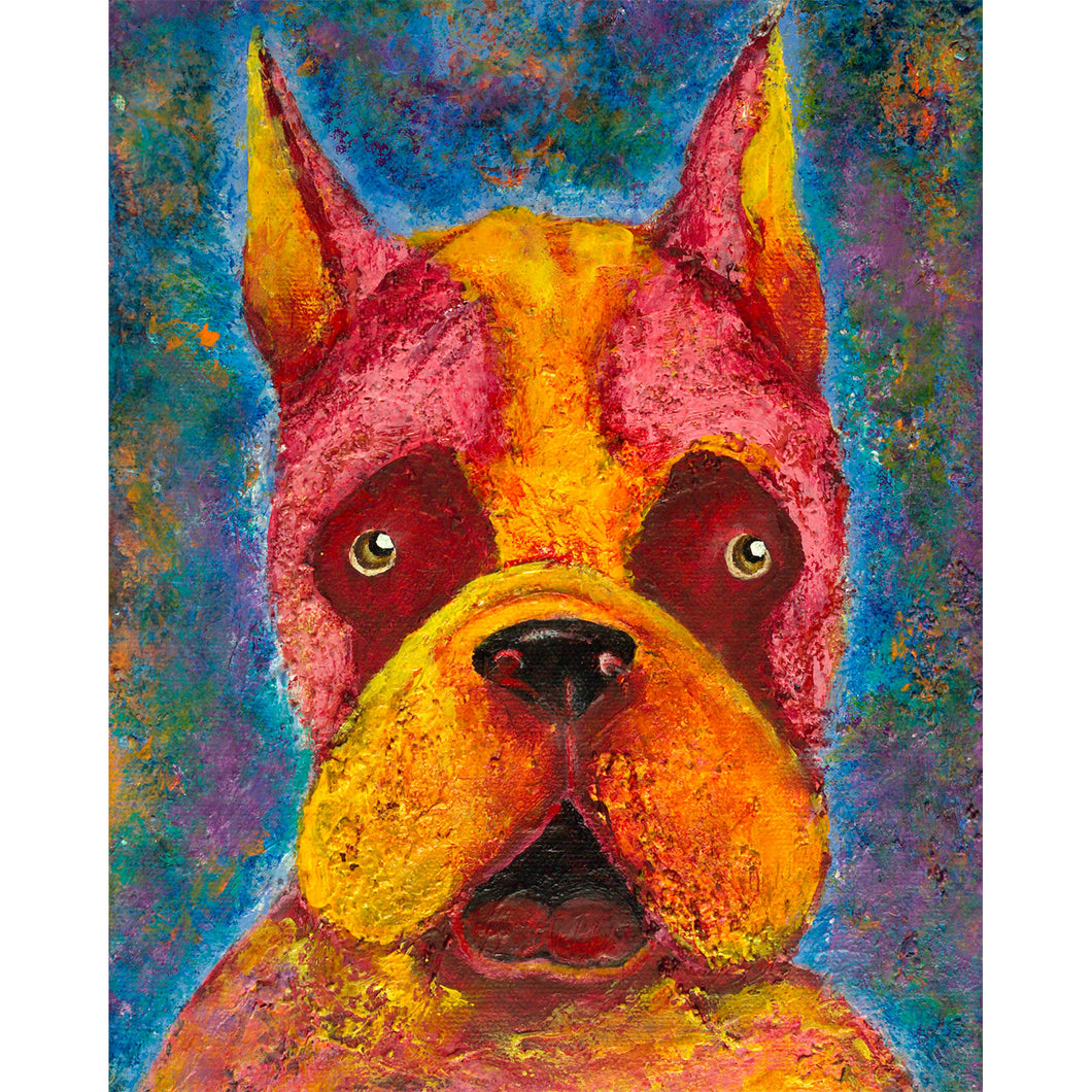 Dog painting acrylic on canvas