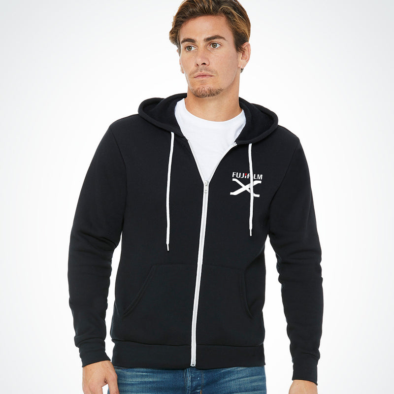 FUJIFILM X SERIES FULL-ZIP HOODIE - BLACK